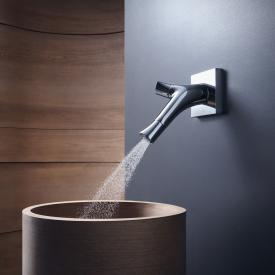 AXOR Starck Organic Zweigriff-Waschtischmischer für Wandmontage Ausladung: 187 mm