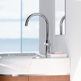 AXOR Uno² 2-Griff-Waschtischarmatur 230, mit Schwenkauslauf mit Ablaufgarnitur