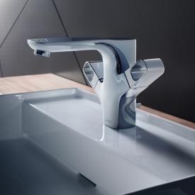 AXOR Urquiola 2-Griff Waschtischarmatur 120 mit Ablaufgarnitur