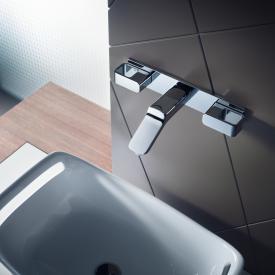 AXOR Urquiola 3-Loch Waschtischarmatur für Wandmontage Ausladung: 168 mm