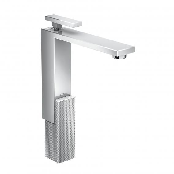 AXOR Edge Einhebel-Waschtischmischer 280 mit Diamantschliff mit Ablaufgarnitur