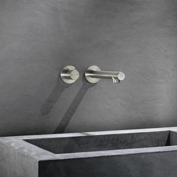 AXOR Uno Select Waschtischmischer für Wandmontage Ausladung: 225 mm, nickel gebürstet