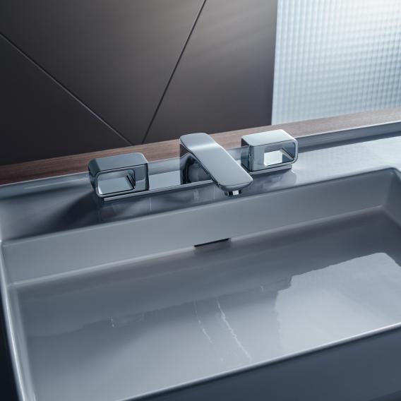 AXOR Urquiola 3-Loch Waschtischarmatur 50 mit Platte mit Ablaufgarnitur
