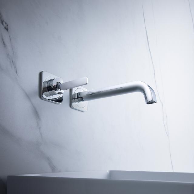 AXOR Citterio E Einhebel-Waschtischmischer mit Rosetten für Wandmontage Ausladung: 220 mm