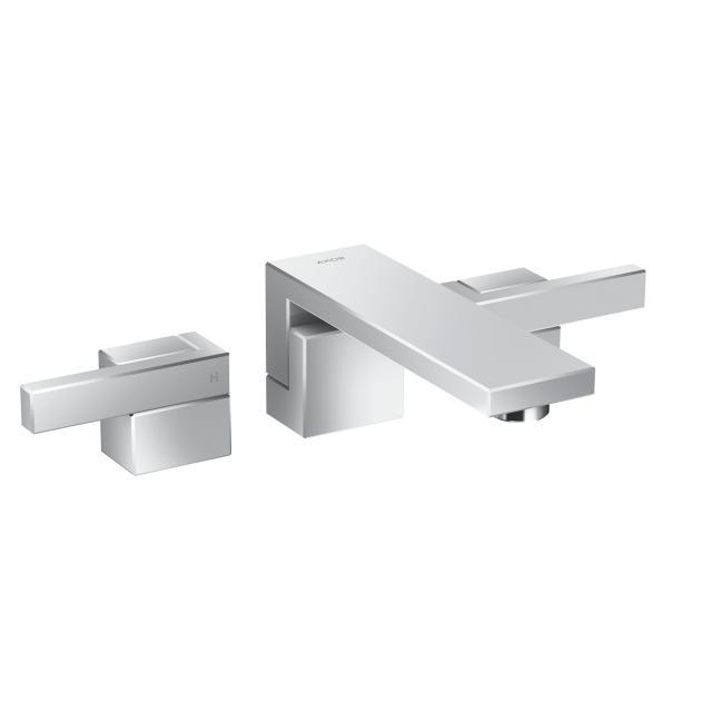 AXOR Edge 3-Loch-Waschtischarmatur für Wandmontage, Ausladung: 190 mm
