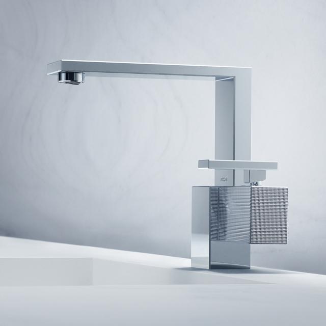 AXOR Edge Einhebel-Waschtischmischer 190 mit Diamantschliff mit Ablaufgarnitur