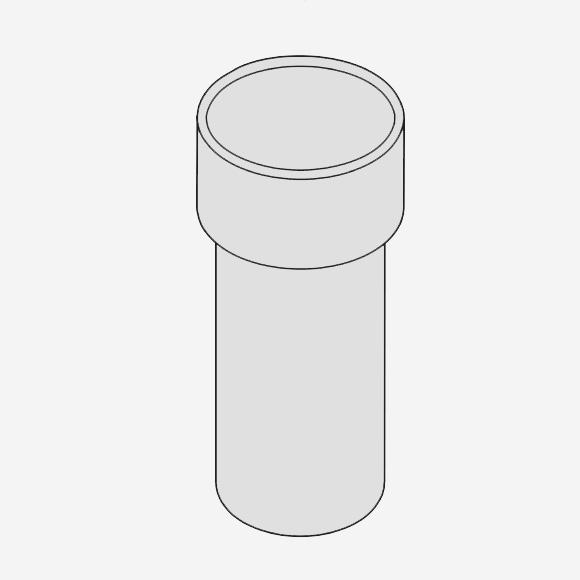 AXOR Ersatzglas für Zahnputzbecher mit Halter