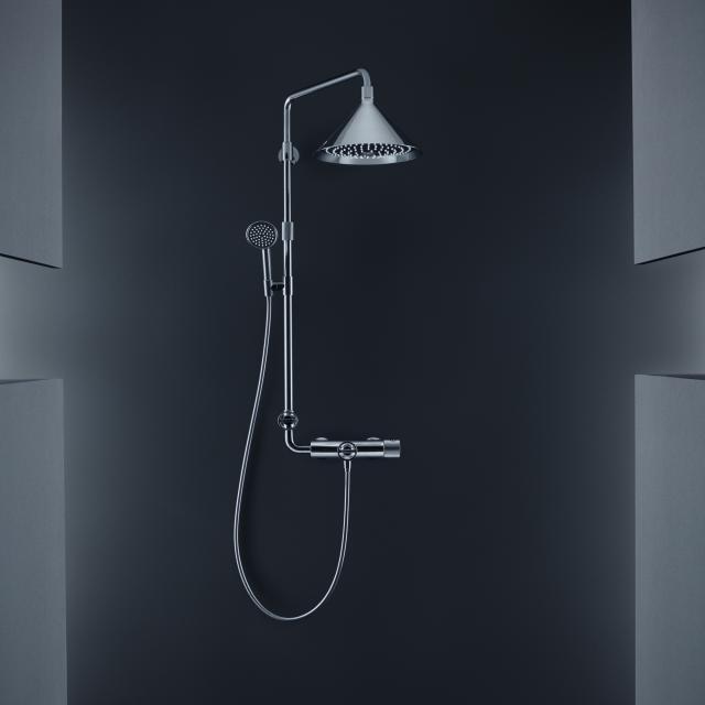 AXOR Showerpipe mit Thermostat und 2jet Kopfbrause designed by Front chrom