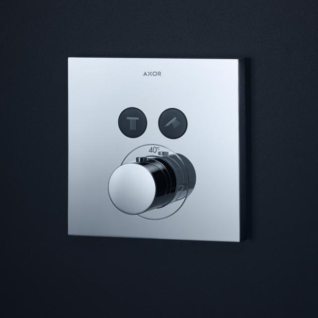 AXOR ShowerSelect Square Thermostat Unterputz für 2 Verbraucher chrom