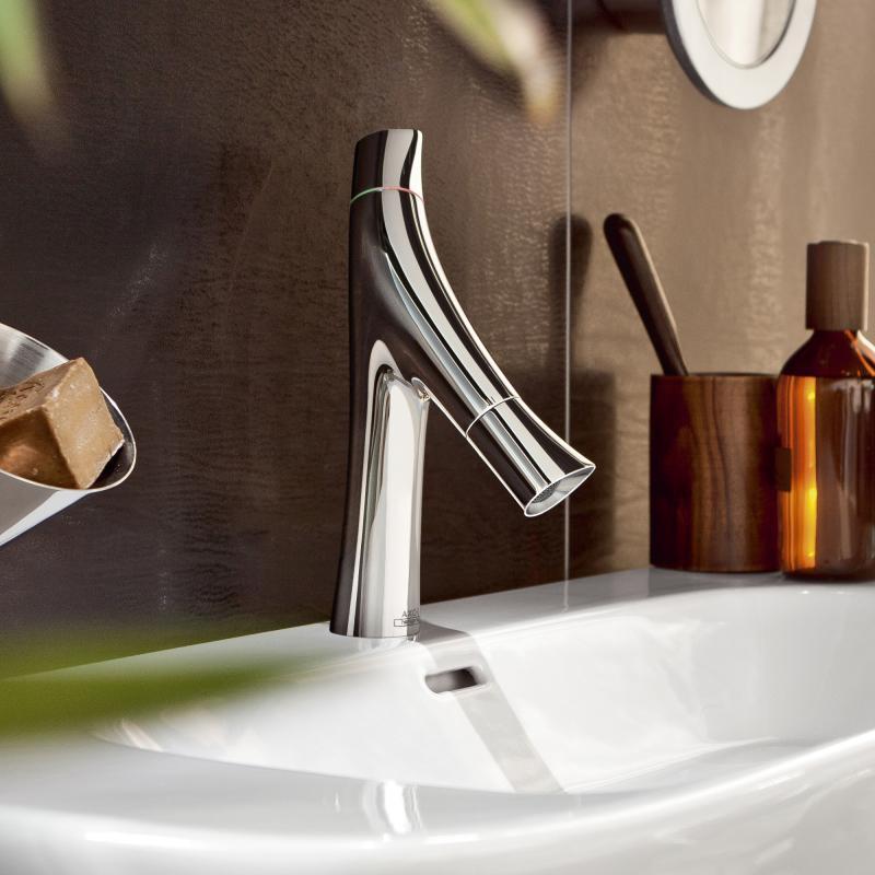 axor starck organic zweigriff waschtischmischer 80 mit ablaufgarnitur 12011000 reuter. Black Bedroom Furniture Sets. Home Design Ideas
