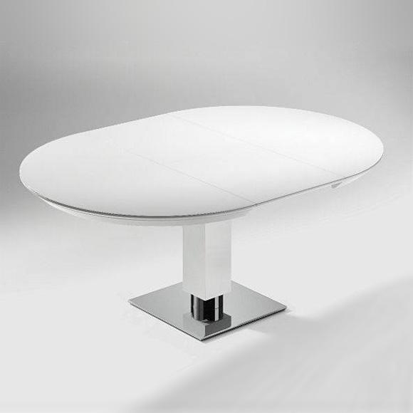 runder tisch ausziehbar weiß