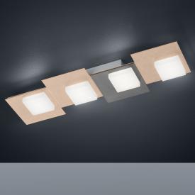 BANKAMP CUBE LED Deckenleuchte / Wandleuchte 4-flammig mit Dimmer, rechteckig