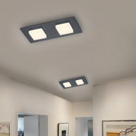 BANKAMP LUNO LED Deckenleuchte mit Dimmer, 2-flammig