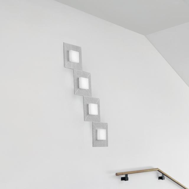 BANKAMP DIAMOND LED Deckenleuchte / Wandleuchte 4-flammig mit Dimmer, rechteckig