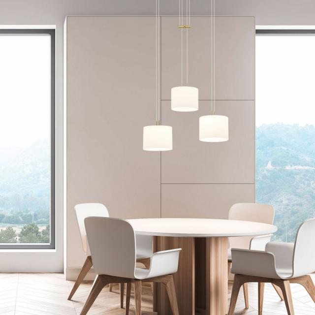 BANKAMP GRAZIA LED Pendelleuchte mit Vertical Dimm, 3-flammig rund