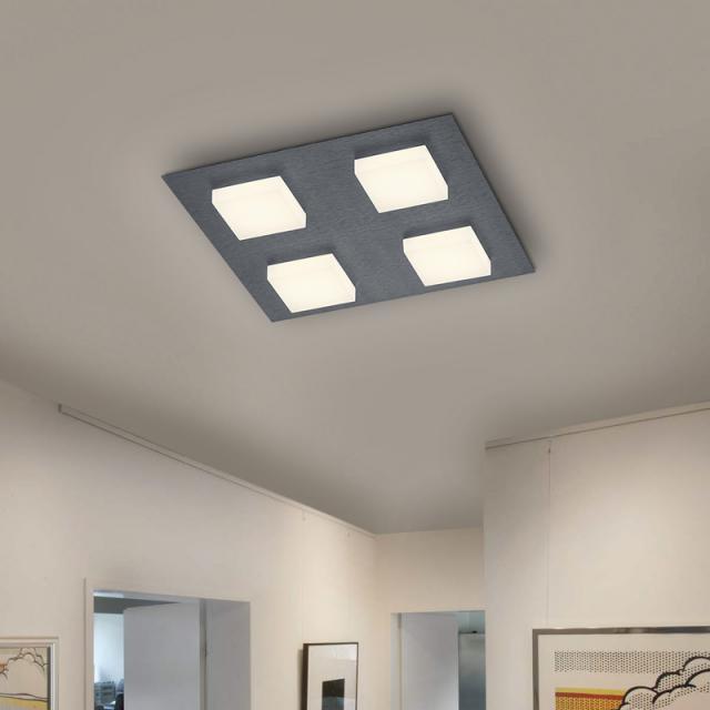 BANKAMP LUNO LED Deckenleuchte mit Dimmer, 4-flammig