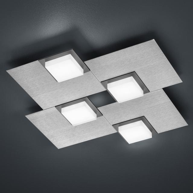 BANKAMP QUADRO LED Deckenleuchte / Wandleuchte 4-flammig mit Dimmer