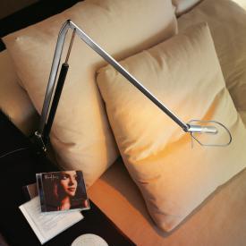 belux liftolino LED Tischleuchte mit Tischzwinge, Dimmer und veränderbarer Lichtfarbe