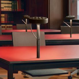 belux u-turn LED Tischleuchte mit Schraubbefestigung und Dimmer