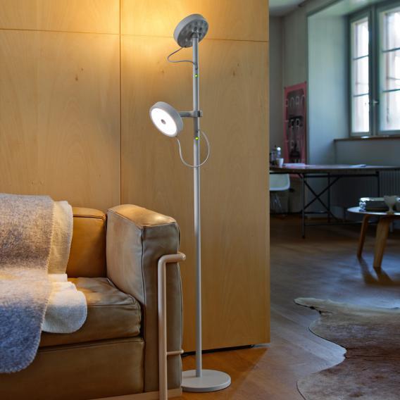 belux u-turn LED Stehleuchte mit Lesearm und Dimmer