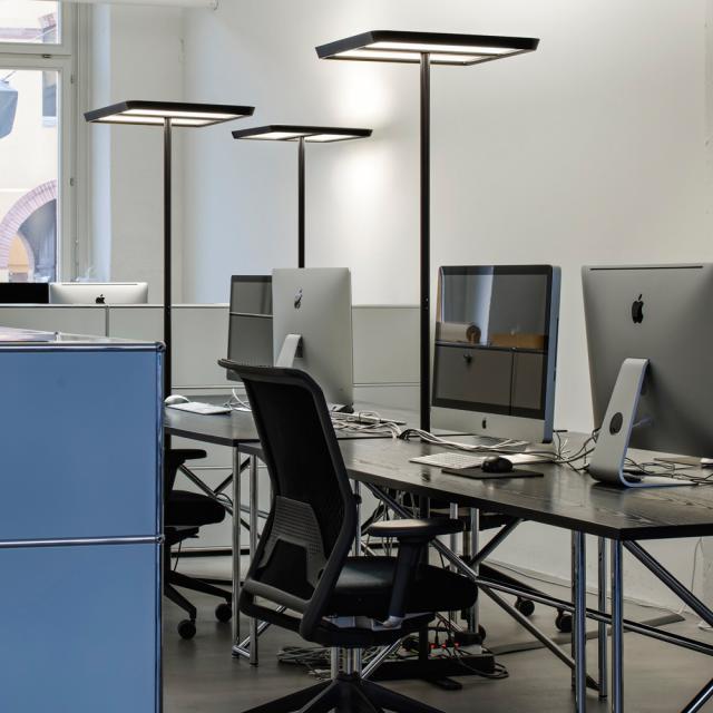 belux karo Multisens LED Stehleuchte mit Dimmer und Bewegungsmelder