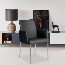 bert plantagie Ultimo Low Stuhl mit Armlehnen, Fuß rund