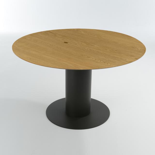 bert plantagie Oval Esstisch, Massivholz, rund