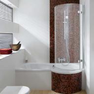 bad mit freistehende badewanne und dusche | badezimmer & wohnzimmer