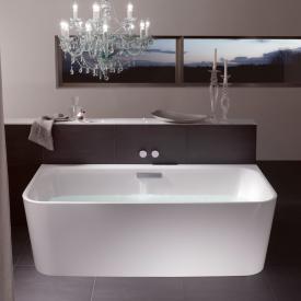 Bette Art I Badewanne Wanne weiß, Ablaufgarnitur chrom, mit Wassereinlauf
