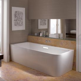 Bette Art Badewanne Wanne weiß, mit BetteGlasur Plus, Ablaufgarnitur chrom, mit Wassereinlauf