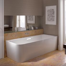 Bette Art Eck-Badewanne mit Verkleidung Wanne weiß, Ablaufgarnitur chrom