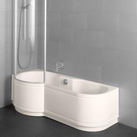 Bette Cora Panel Badewanne für Eckeinbau, Duschzone links pergamon