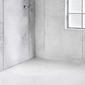 Bette Floor Caro Fünfeck-Duschwanne weiß, mit BetteAntirutsch Pro