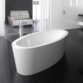 Bette Home Oval Silhouette freistehende Badewanne Wanne weiß, Ablaufgarnitur chrom