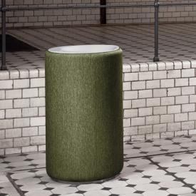 Bette Lux Oval Couture freistehender Waschtisch weiß/moss, ohne Hahnloch