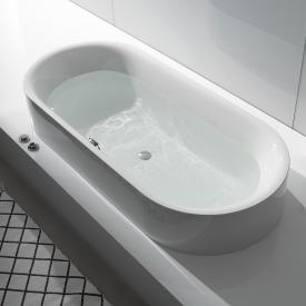 Bette Lux Oval Highline Oval Halbeinbau-Badewanne weiß