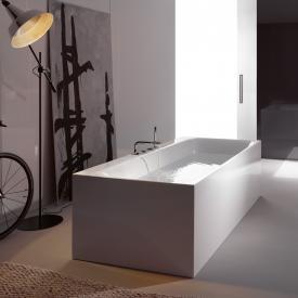 Bette Lux Silhouette Side Badewanne Wanne weiß, mit BetteGlasur Plus, Ablaufgarnitur chrom, mit Wassereinlauf