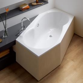 Bette Metric Sechseck-Badewanne, Fußende links weiß