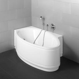 Bette Pool I Panel Eck-Badewanne mit Verkleidung weiß