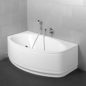 Bette Pool II Panel Eck-Badewanne mit Verkleidung weiß
