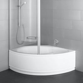 Bette Pool III Panel Eck-Badewanne mit Verkleidung weiß