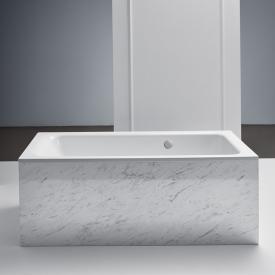 Bette Select Rechteck-Badewanne mit seitlichem Überlauf hinten weiß, mit BetteGlasur Plus