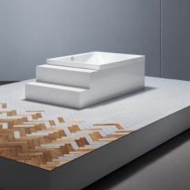 Bette Spa Rechteck-Badewanne, Überlauf hinten weiß, für Griffmontage