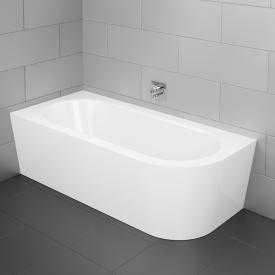 Bette Starlet Silhouette Raumspar-Badewanne mit Verkleidung Wanne weiß, mit BetteGlasur Plus, Ablaufgarnitur weiß, mit Wassereinlauf