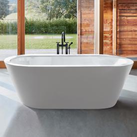 Bette Starlet Oval Silhouette Freistehende Oval-Badewanne Wanne weiß, mit BetteGlasur Plus, Ablaufgarnitur chrom, mit Wassereinlauf