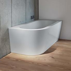 Bette Starlet Silhouette Eck-Badewanne Wanne weiß, mit BetteAntirutsch gesamte Bodenfläche, mit BetteGlasur Plus, Ablaufgarnitur chrom
