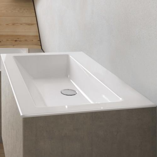 Bette Loft Einbau-Waschtisch weiß, ohne Hahnloch