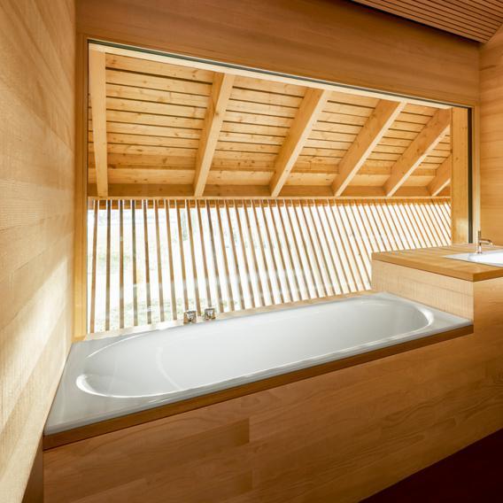 Bette Comodo Rechteck-Badewanne, Einbau, mit seitlichem Überlauf vorne weiß