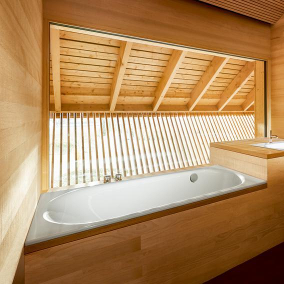 Bette Comodo Rechteck-Badewanne, seitlicher Überlauf hinten weiß
