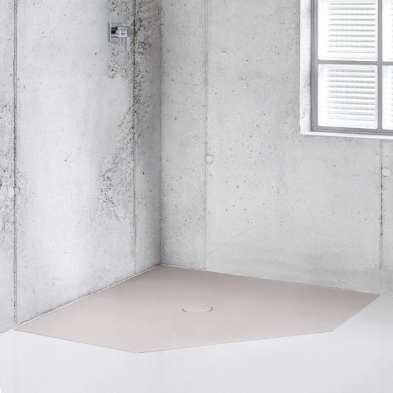 Bette Floor Caro Fünfeck-Duschwanne dust, mit BetteAntirutsch Pro
